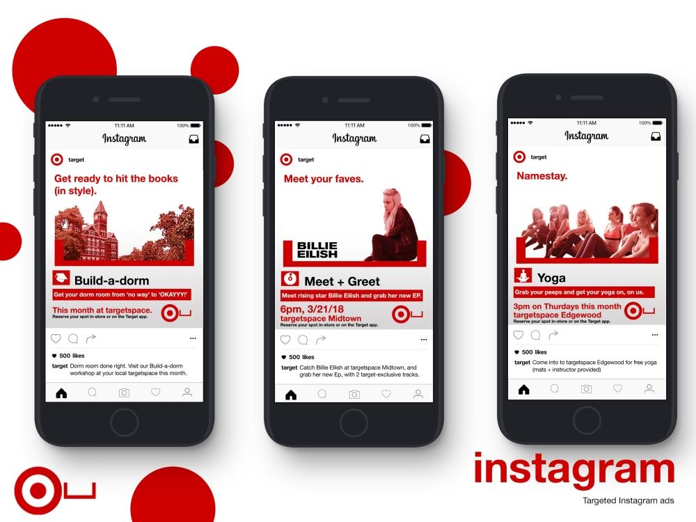 target instagram mockups