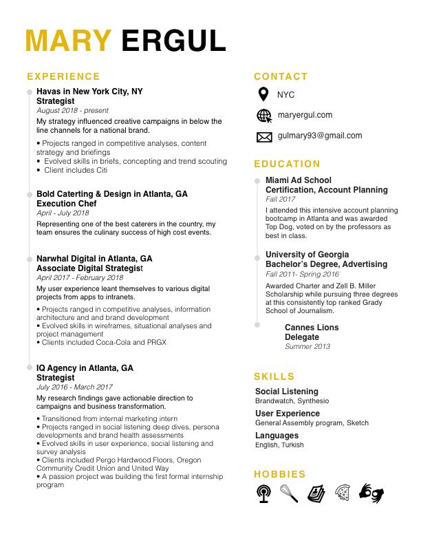 mary ergul 2019 resume